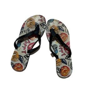 Coach Kasey Poppy Scribble Flip Flop Sandals